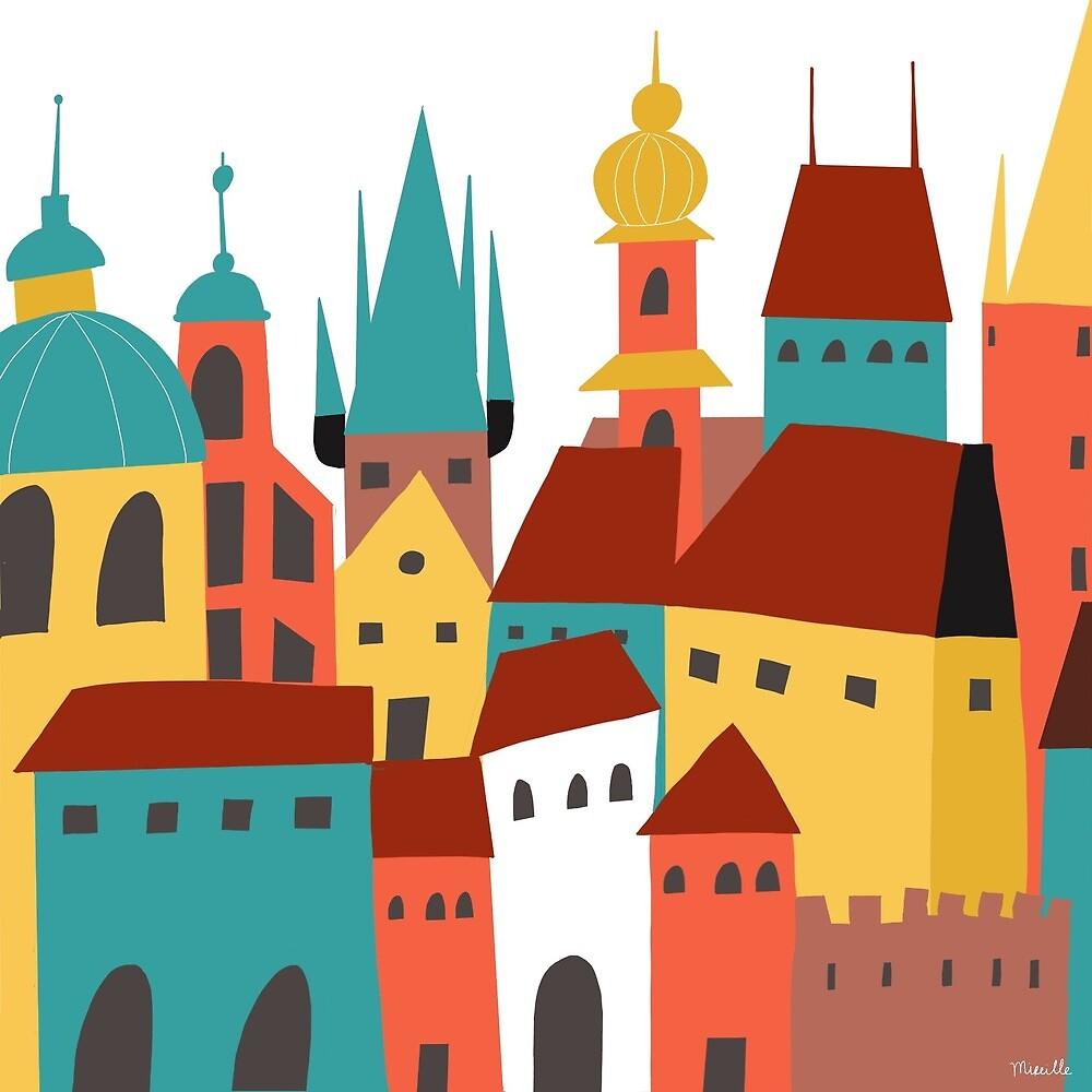 « Prague » par Mireille  Marchand