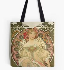 Alophonse Mucha - Champagne Poster Tote Bag