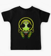 cute skull - most black or red background Kids Tee