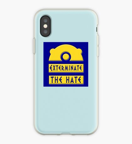 Exterminate the hate! = Rights iPhone Case