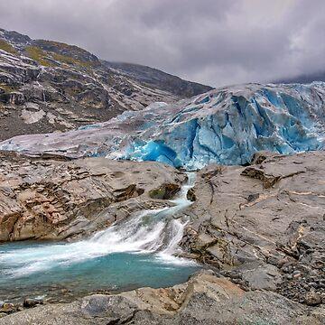 Norwegen - Jostedalsbreen Gletscher by Desmo