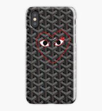 Black Goyard comme des garcons red Play iPhone Case