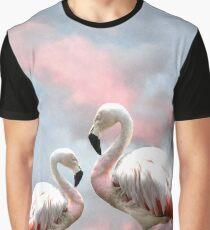 Flamingo Sky sunset birds Graphic T-Shirt