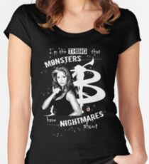 BUFFY: NIGHTMARES Women's Fitted Scoop T-Shirt