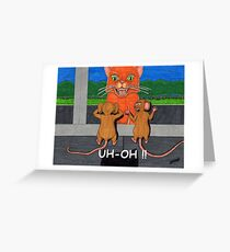 UH OH! Greeting Card