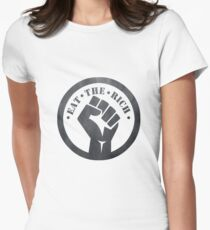 Eat the Rich Women's Fitted T-Shirt