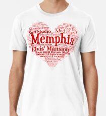 Camiseta premium Corazón de Memphis Red Heart Palabra nube Productos