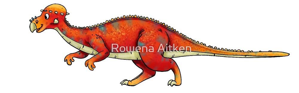 Pachysephalosaurus by Rowena Aitken