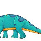 Brachiosaurus by Rowena Aitken