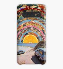 Orange Sonnenuntergang Hülle & Klebefolie für Samsung Galaxy