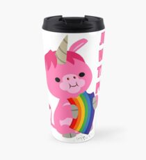 Just Wait Till I Poop (unicorn eating a rainbow) by Cheerful Madness!! Travel Mug