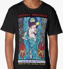 Fortune's Wheelhouse Tabula Mundi Tarot Priestess tee Long T-Shirt