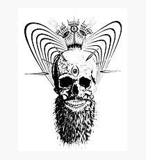 enlightened skull Photographic Print