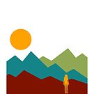 Woman and Mountain Range by wmr2