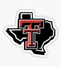 texas tech- tiny texas Sticker