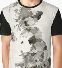 Great Britain UK Watercolor Map Graphic T-Shirt