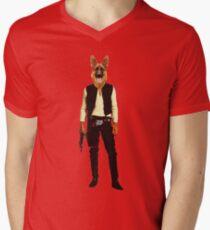 Han Solo Star Wars Dog Mens V-Neck T-Shirt