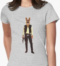 Han Solo Star Wars Dog Womens Fitted T-Shirt