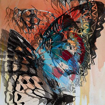 Butterfly abstract 1 by claracooper
