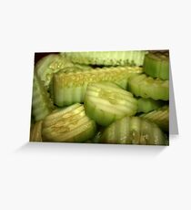 Yummy Cucumbers Greeting Card