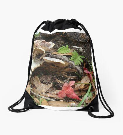 After the rain - life repeats Drawstring Bag