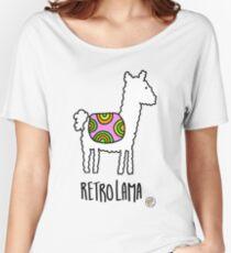 Retro Lama Women's Relaxed Fit T-Shirt
