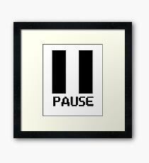 Pause Game - Gamer Players Framed Print