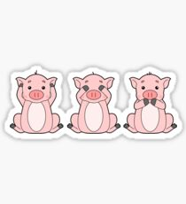 Hear No, See No, Oink No Evil Sticker