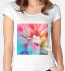 Colored background Fitted Scoop T-Shirt