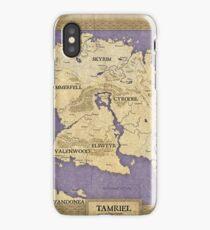 Elder Scrolls map - Tamriel iPhone Case