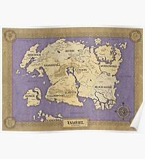 Elder Scrolls map - Tamriel Poster