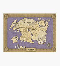 Elder Scrolls map - Tamriel Photographic Print