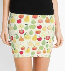 Watercolour Apples and Pears Pattern Mini Skirt