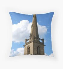 Church Spire, Easton Maudit, Northamptonshire Throw Pillow
