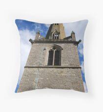 Eaton Maudit church spire  Throw Pillow