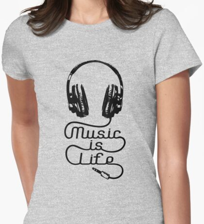 Music is Life Headphones T-Shirt