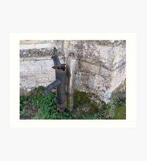 Water pump Easton Maudit church Art Print