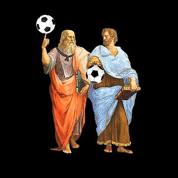 Plato and Aristotle With Soccer Balls by The-Nerd-Shirt