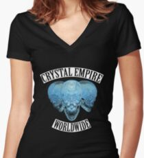 Crystal Empire Color Women's Fitted V-Neck T-Shirt