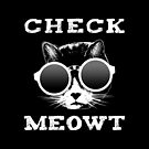 Check Meowt Cat with Shades by EthosWear