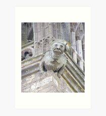 Gargoyle Easton Maudit church Art Print