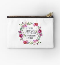 Christian Quote James 1:17 Studio Pouch
