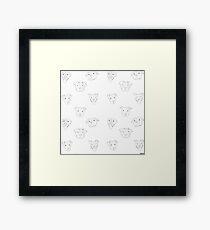 White pit bull  Framed Print