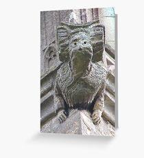 Gargoyle on Easton Maudit church Greeting Card