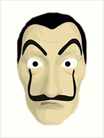 la casa de papel dali mask art prints by mrjekinshd redbubble