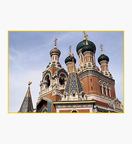 ST Nicolas Russian cathedral Photographic Print