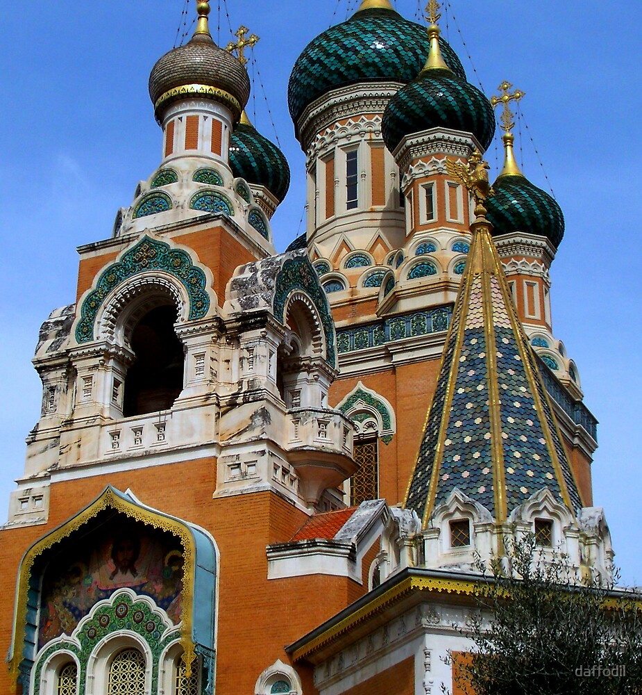 Gorgeous Russian church by daffodil