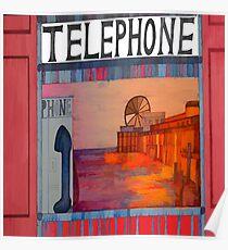 Its Good to Talk -Phone Box Brighton Pier Poster