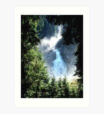 Krimmler Wasserfälle Art Print