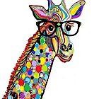 Hipster Giraffe by EloiseArt